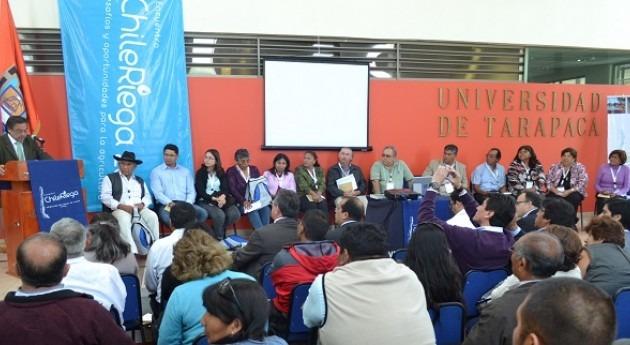 regantes norte Chile contribuyen al programa trabajo sector agrícola