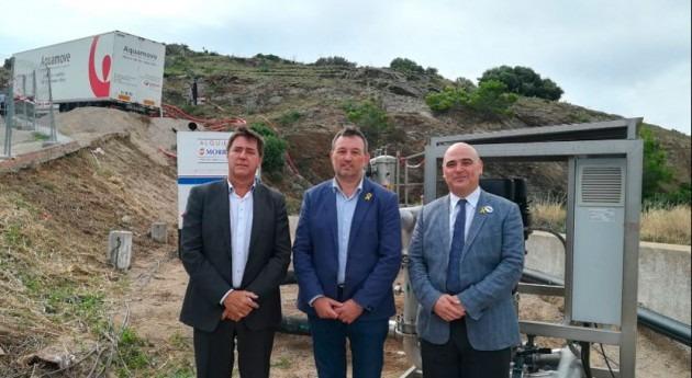 director ACA visita desalinizadora municipio Port Selva