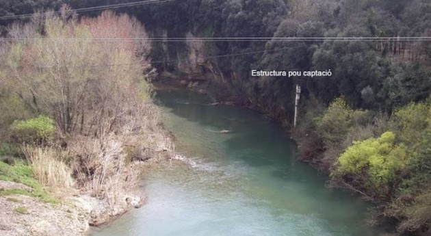 ACA revisa estación aforo río Fluvià paso Esponellà