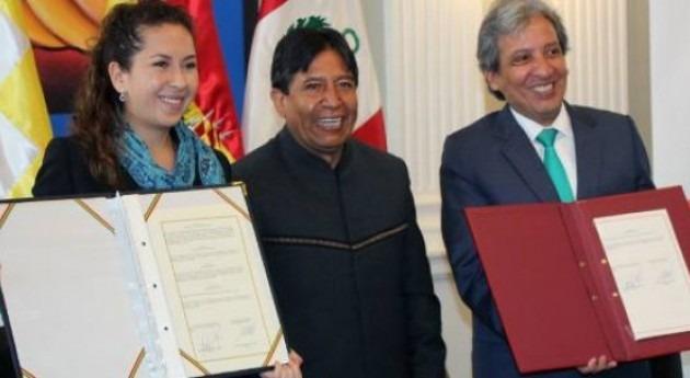 Bolivia y Perú suscriben Acuerdo Binacional recuperar Lago Titicaca