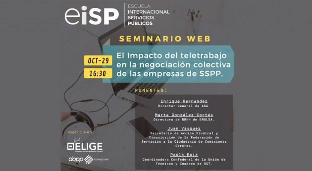 Teletrabajo y Negociación Colectiva: mesa redonda jueves 29 16:30 participación AGA