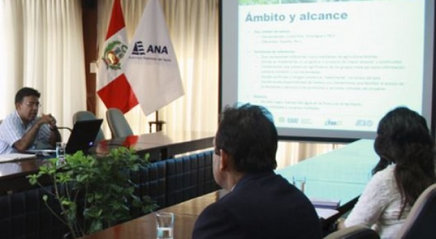 ANA promueve proyecto Gestión Integral Agua Agricultura Familiar
