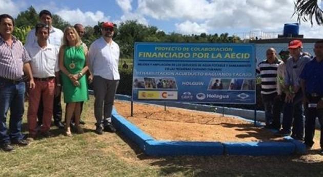España mejora y amplía cobertura agua potable y saneamiento cinco ciudades Cuba