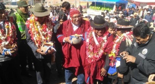 Gobierno Bolivia inicia obras que garantizan agua segura habitantes Copacabana