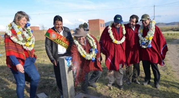comunidades Puerto Pérez, Bolivia, ya cuentan acceso agua potable y saneamiento