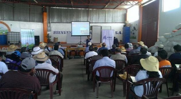 ANA capacita más 1000 agricultores Majes uso eficiente agua riego