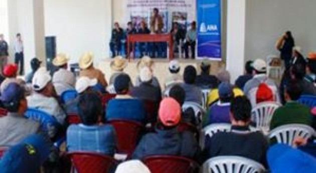 594 licencias uso agua fines poblacionales y agrario son emitidas Autoridad Nacional Agua