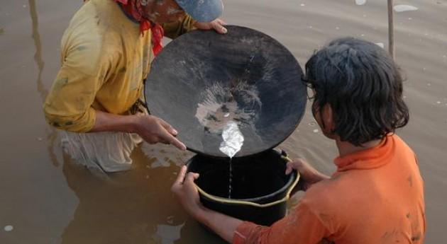 El riesgo de intoxicación por mercurio no se restringe a los trabajadores (UNIDO Global Mercury Project)