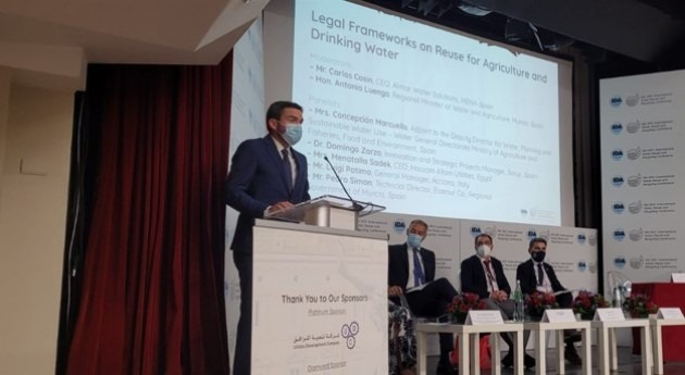 Murcia expone Roma modelo referente depuración y reutilización aguas residuales