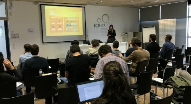 Maria José Amores presenta proyecto y herramienta Aquaenvec ICRA