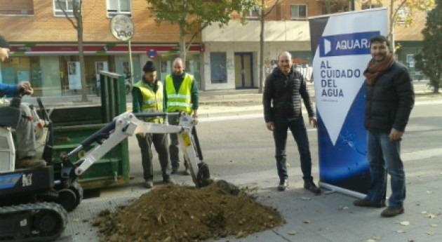 Aquara compensa huella carbono plantación árboles Zaragoza