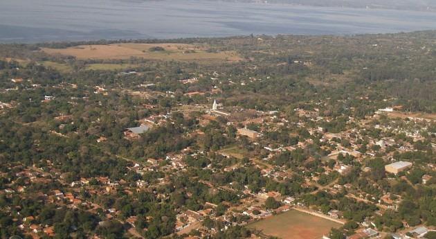 Vista aérea de Areguá (wikipedia/CC)