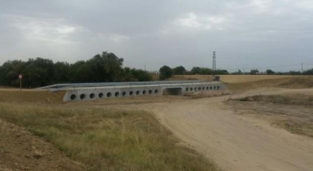 servicio paso elevado arroyo Conejo, Palacios y Villafranca