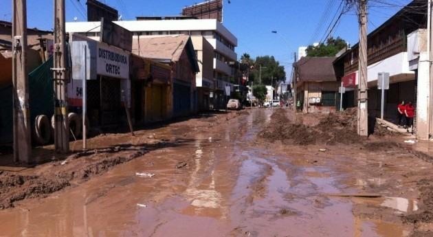 Imagen del temporal de marzo en el norte de Chile (Wikipedia/CC).