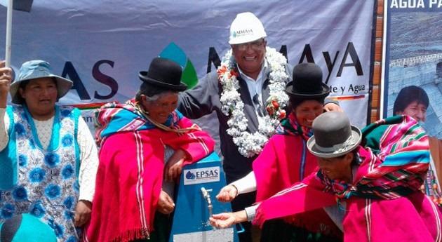 400.000 hogares ocho municipios paceños ya cuentan agua potable