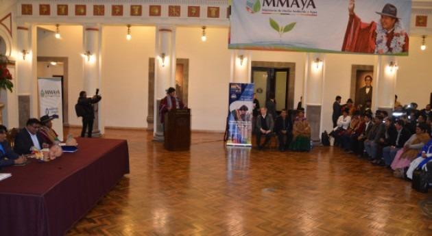 Bolivia analiza proyectos presentados programa MiAgua saneamiento y agua potable