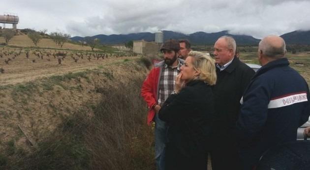 Martínez-Cachá conoce necesidades y demandas agricultura secano Lorca