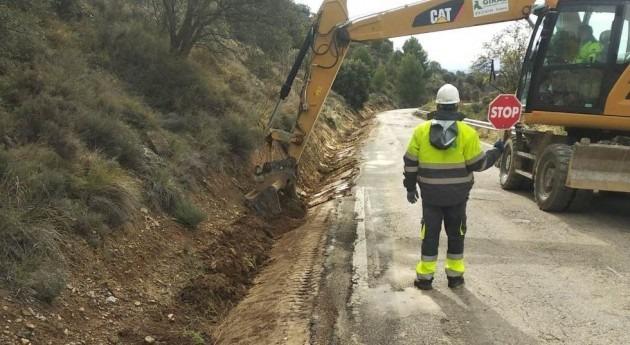 Comienzan obras mejora seguridad vial HU-234 Fornillos y Apiés (Huesca)