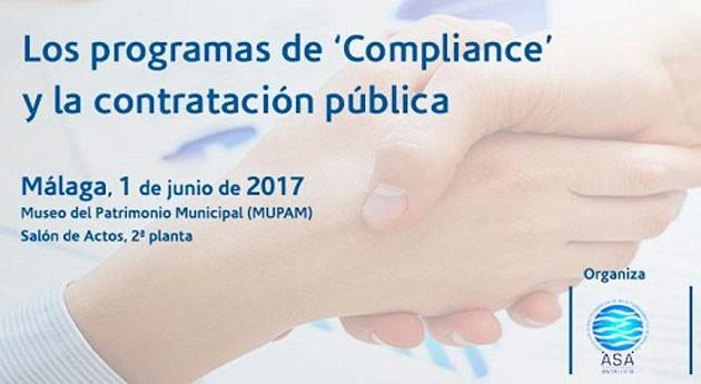 """Abierta inscripción Jornada """" Programas 'Compliance' y Contratación Pública"""""""