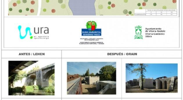 URA finaliza acondicionamiento hidráulico y arquitectónico puente antiguo Abetxuko