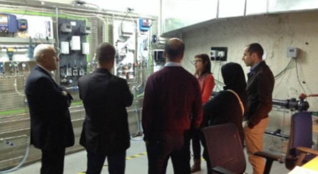 delegación Argelia conoce plataforma sensores Aigües Barcelona