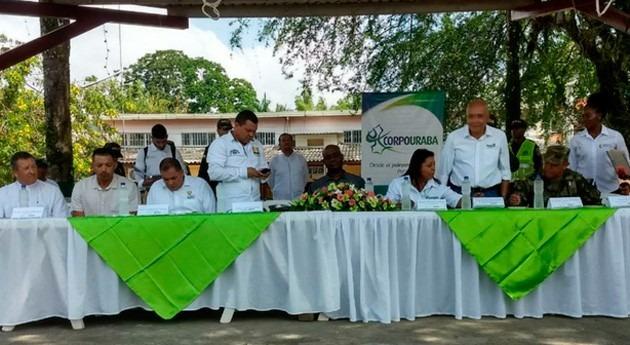 Gobierno colombiano entrega obras mitigación inundaciones Urabá antioqueño