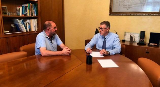 presidente CHS, Mario Urrea, se reúne alcalde Totana, Juan José Cánovas