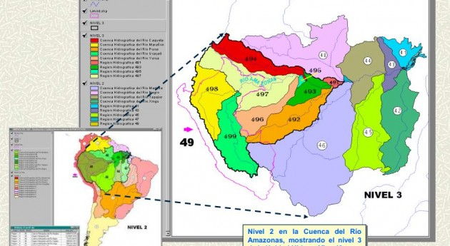 Codificación de Cuencas en el Perú por el método Pfafstetter (Fuente: CEPAL-INR)