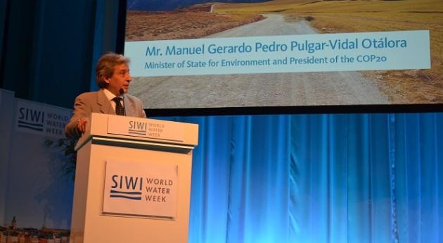 """"""" agua debe ser tema central debate climático"""", presidente COP20"""
