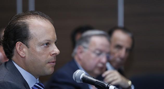 David Korenfeld, director de Conagua, durante su intervención en el nombramiento