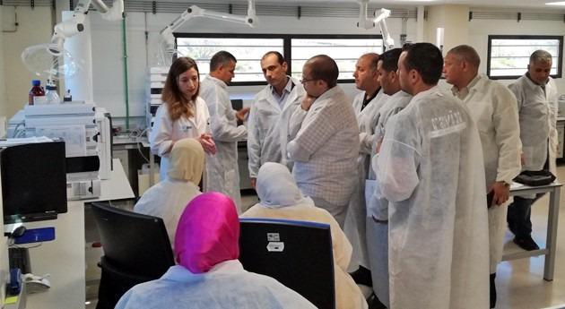 Expertos Ministerio Recursos Hídricos y Regadíos Egipto visitan IMDEA Agua