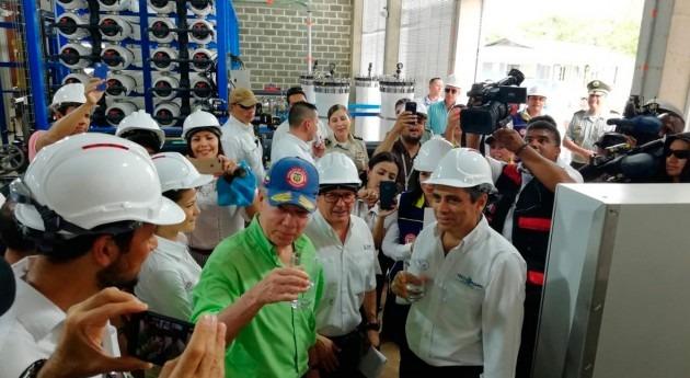 nueva desaladora fabricada Cataluña abastece isla San Andrés, Colombia