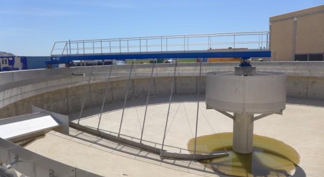 Recepción obras depuradora Aguas Residuales zona Utebo