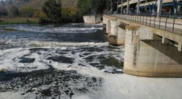 río Jarama acumula gran cantidad espumas altura presa Rey