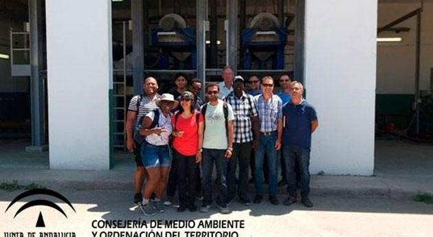Andalucía explica gestión agua Almería estudiantes máster Unesco