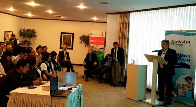 Gobierno Bolivia desarrolla estudio balance hídrico país