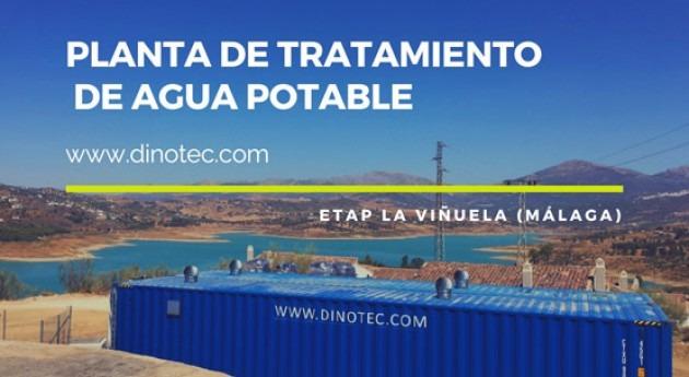 DINOTEC potabiliza agua Viñuela (Málaga)