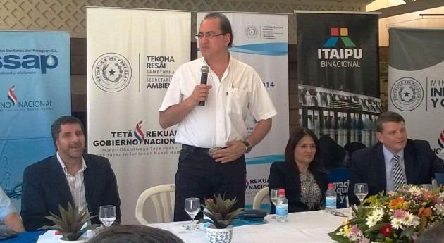 Arístides Mongelós, director de Agua Potable y Saneamiento