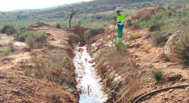 Generalitat Valenciana retira 115.000 litros aguas residuales subterráneas Murada