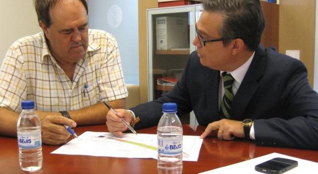 José Alberto Comos se reúne Federación Comunidades Regantes Comunitat Valenciana