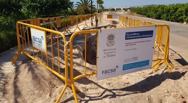 Ayuntamiento Nules y FACSA amplían red distribución agua potable Mascarell