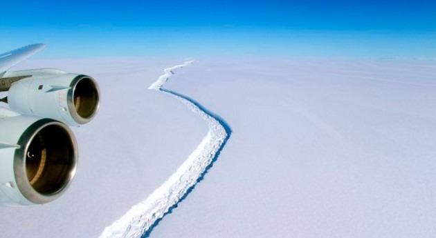 grieta 10 km anuncia posible rotura plataforma hielo Antártida