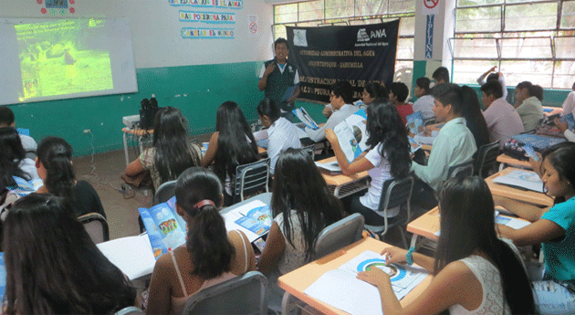 Chulucanas ANA sensibiliza estudiantes universitarios cultura agua