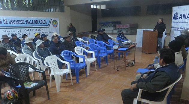 ANA capacita agricultores valle Colca Ley Organizaciones Usuarios