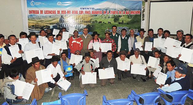 ANA entrega cerca 2000 licencias uso agua agricultores Ayacucho