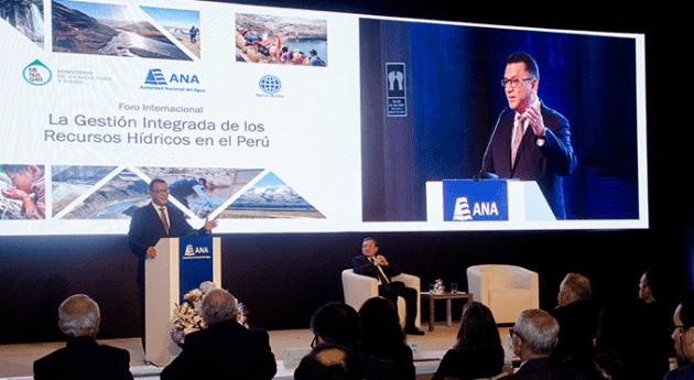 ANA realiza Foro Internacional ' Gestión Integrada Recursos Hídricos Perú'