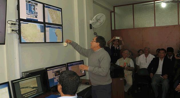 Huaura Autoridad Nacional Agua inaugura Sala Monitoreo Hídrico