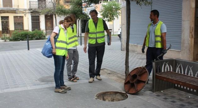 Almassora y FACSA retoman limpieza alcantarillado evitar embozos