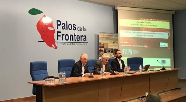 Comunidad Regantes acoge jornada riego frutos rojos organizada IFAPA