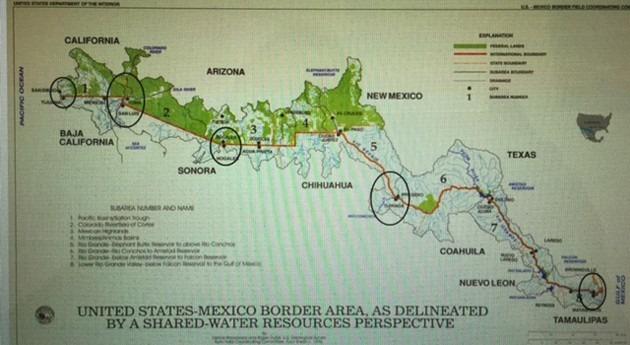 Aguas transfronterizas México-Estados Unidos